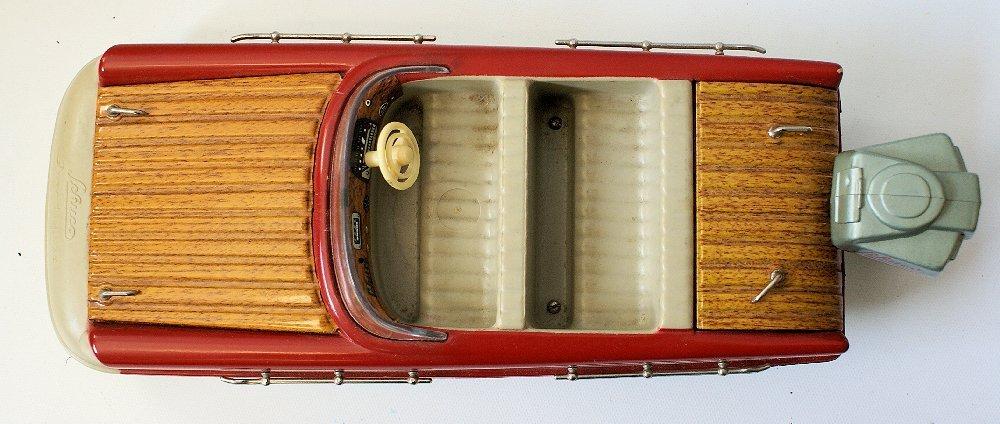 Vintage SCHUCO ELEKTRO RECORD 5555 Battery Op. Toy Boat - 4