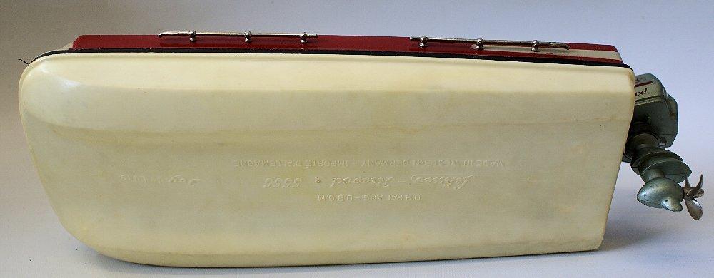 Vintage SCHUCO ELEKTRO RECORD 5555 Battery Op. Toy Boat - 5
