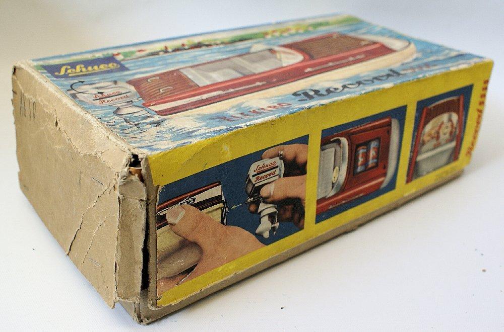 Vintage SCHUCO ELEKTRO RECORD 5555 Battery Op. Toy Boat - 6