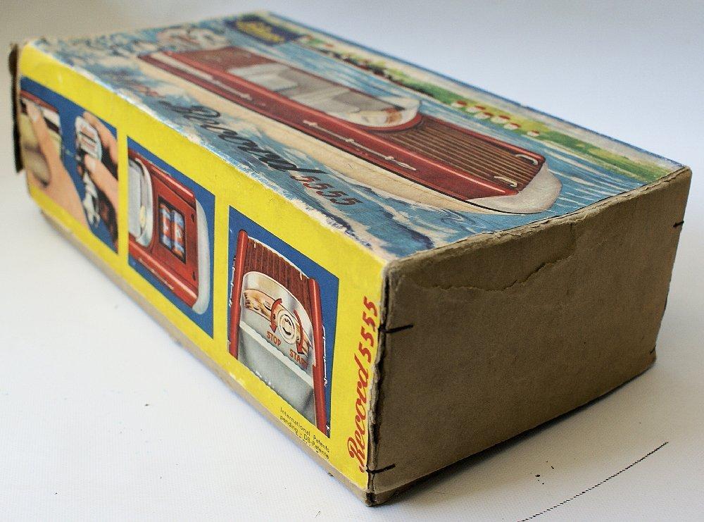 Vintage SCHUCO ELEKTRO RECORD 5555 Battery Op. Toy Boat - 7
