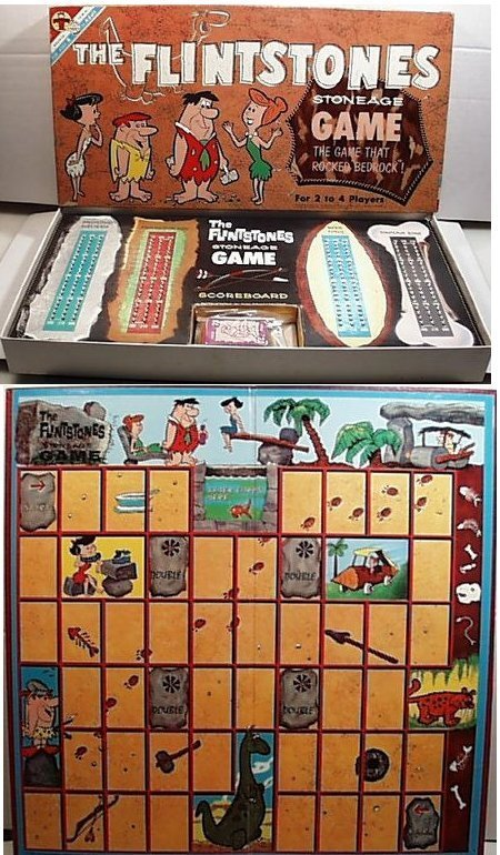 Vintage 1961 The FLINTSTONES Stoneage Family Board Game