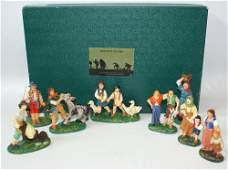 RARE Lot of 8 Vintage 1970's Composition Early Figures,