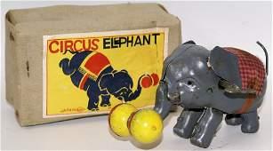 RARE Mechanical Windup CIRCUS ELEPHANT Original Box,
