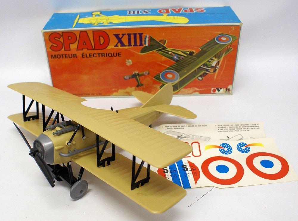 RARE WWI B.O. SPAD XIII 1:20 Biplane, by TOMY (France)