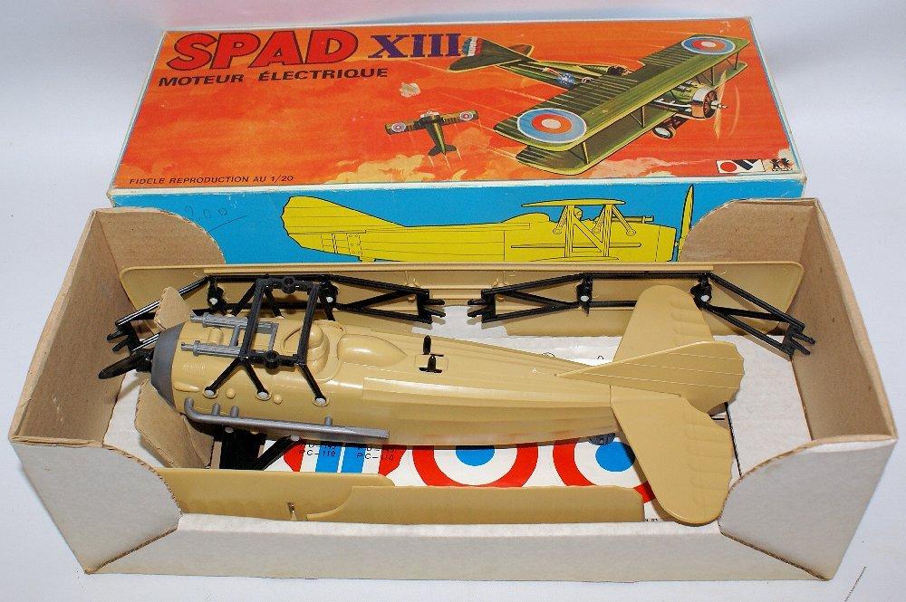 RARE WWI B.O. SPAD XIII 1:20 Biplane, by TOMY (France) - 2