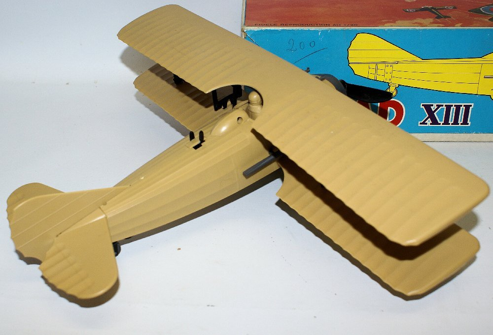 RARE WWI B.O. SPAD XIII 1:20 Biplane, by TOMY (France) - 3