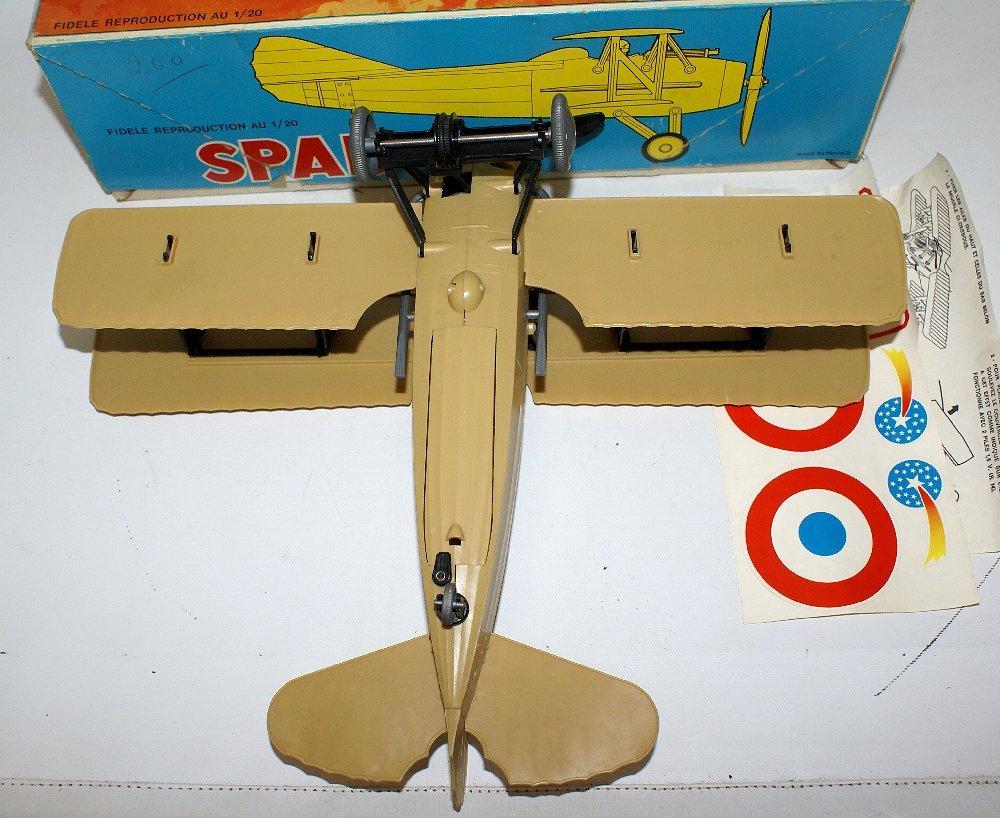 RARE WWI B.O. SPAD XIII 1:20 Biplane, by TOMY (France) - 4
