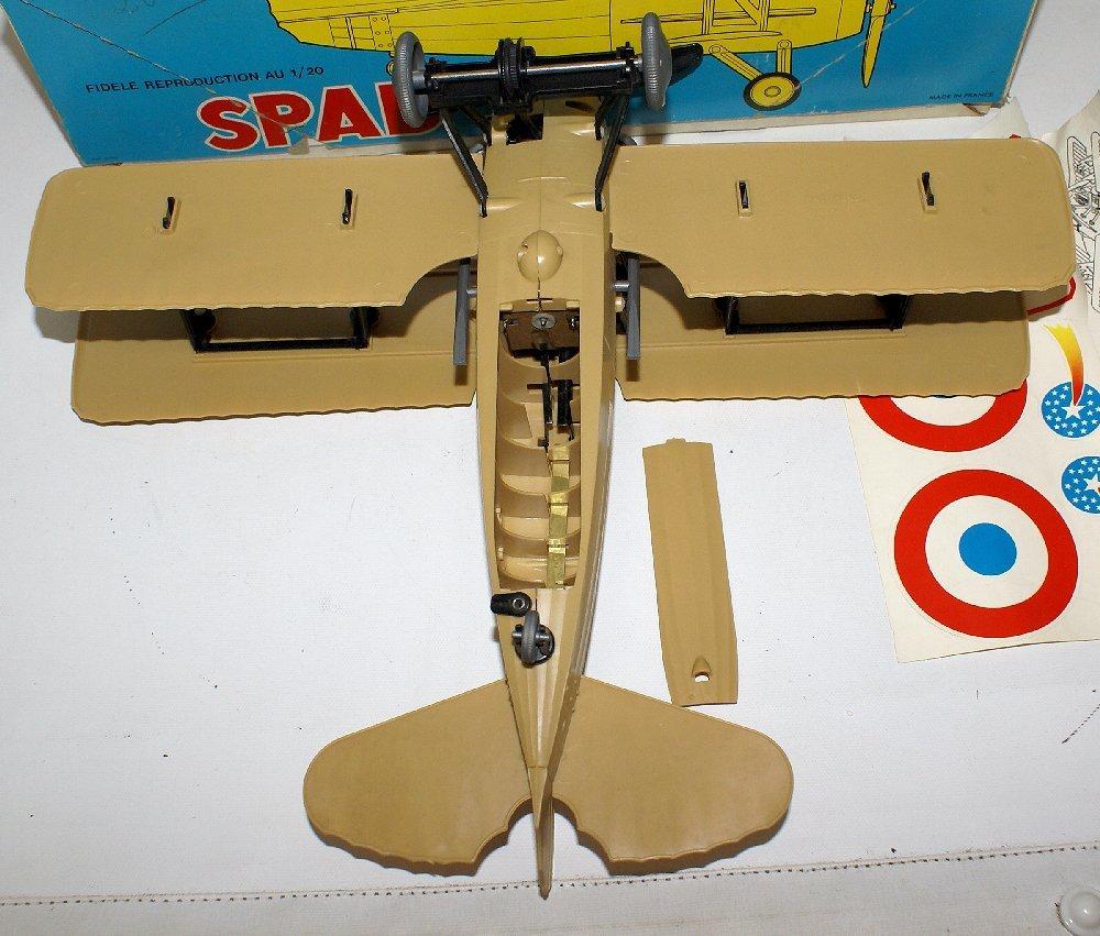 RARE WWI B.O. SPAD XIII 1:20 Biplane, by TOMY (France) - 5