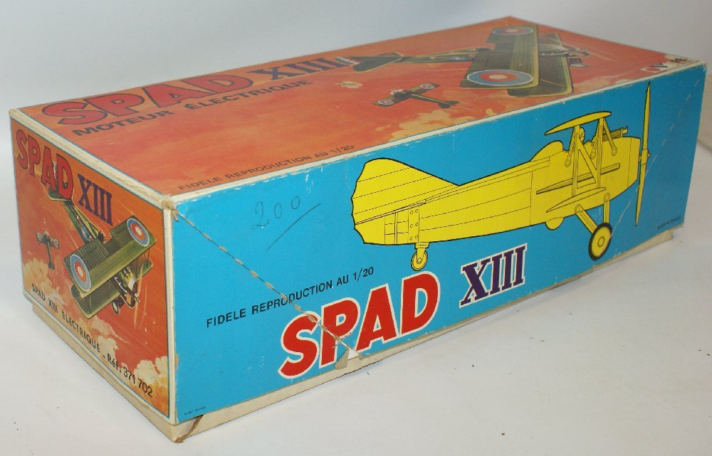 RARE WWI B.O. SPAD XIII 1:20 Biplane, by TOMY (France) - 6
