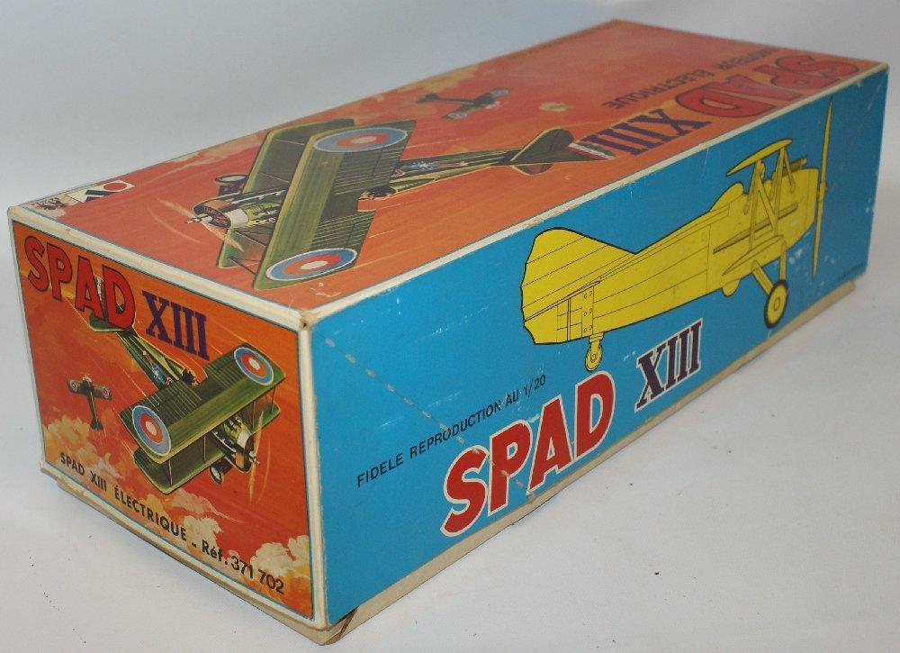 RARE WWI B.O. SPAD XIII 1:20 Biplane, by TOMY (France) - 7