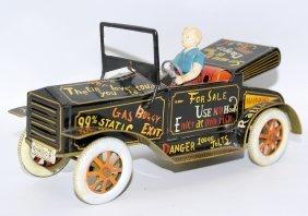 50's Tin Friction Rolls Royce Roadster Crazy Jalopy &