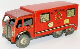 "40's Mettoy Tin Clockwork 9-1/2"" Royal Mail Delivery"