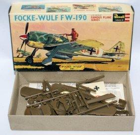 1963 Revell 1:72 Focke-wulf Fw-190 German Fighter Plane