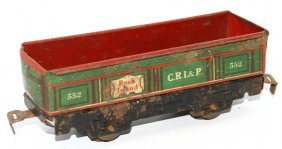 O Tin Marx #552 Rock Island Cri&p Gondola Train Car