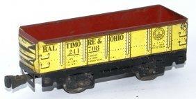 O Gauge Tin Marx Baltimore & Ohio B&o #241708 Gondola