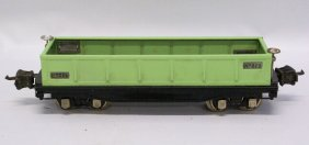 Lionel O Gauge 812 Light Apple Green Restored Gondola