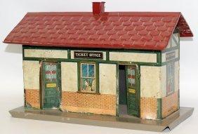 Rare Prewar Ives O Gauge 114 Tin Ticket Office Train