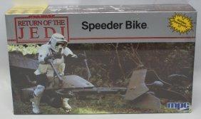 1983 Mpc Star Wars Rotj Speeder Bike Model Kit 1-1927,