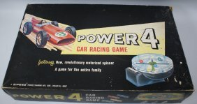 Rare 1984 Zipees Power 4 Car Racing Game By Manning