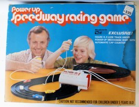 Power Up Speedway Racing Game Race Track Set, Complete