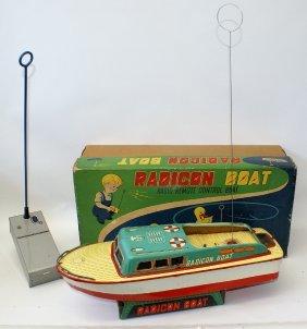 1956 Radio R.c. Radicon Boat Made By Modern Toys, Japan