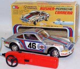 70's Bo R.c. Tin Taiyo Japan #46 Rusher Porsche 911