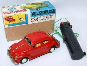 Yoshiya R.c. B.o. Red Tin Vw Volkswagen Beetle Bug