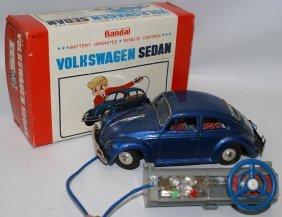 B.o. R.c. Tin Vw Volkswagen Beetle Bug, Bandai Japan