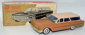 Rare 1961 Tin B.o. #4008 Ford Station Wagon