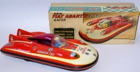 Rare Tin Friction Pinin Farina Fiat Abarth 750 Racer By