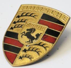 Enameled Porsche Stuttgart 356 Badge Emblem Crest Hood