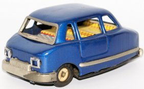 Rare 60's Tin Blue Mini Tricycle Bmw Isetta Toy Car