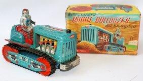 Rare B.o. Tin #115 Robot Bulldozer, Japan