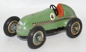 Tin Wind-up Schuco Green #4 Racer Studio 1050