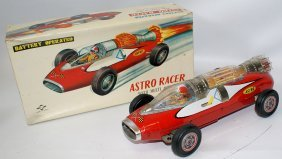 Rare 1962 Tin B.o. Astro Racer Race Car By Diaya, Japan