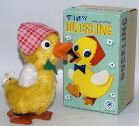 Wind-up Tiny Duckling Duck Figure #3532, Masudaya