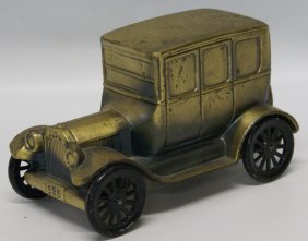 1974 Banthrico Metal Car Auto Coin Bank 1926 Ford Model