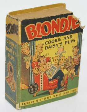 """Blb 1943 Blondie """"cookie And Daisy's Pups"""" #1491 Better"""