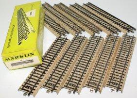"""Ho 5106 Marklin Märklin Box Of 10 """"m"""" Straight Tracks"""