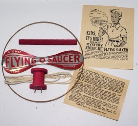 50's Atomic Jet Flying Saucer Helicopter Gyro Toy By