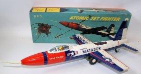 Tin Friction Martin Matador Atomic Fighter 623 Plane