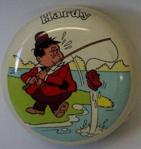 1976 Hanna Barbera Laurel & Hardy 'hardy' Tin Yo Yo,