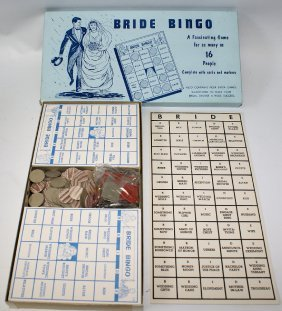 1957 Bride Bingo Bridal Shower Bingo Board Game By