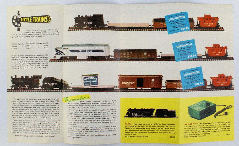 1960's TYCO HO Scale Train Sets and Accessories Catalog - 2