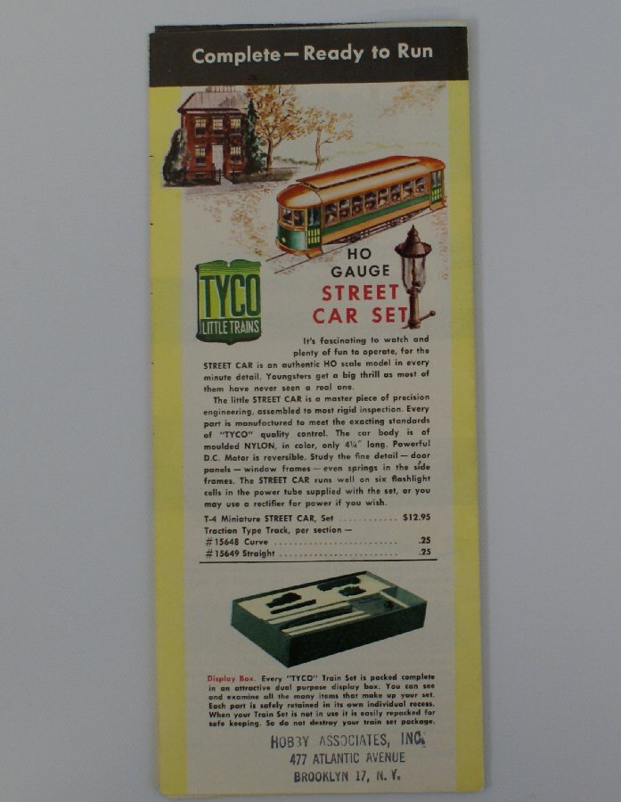 1960's TYCO HO Scale Train Sets and Accessories Catalog - 3