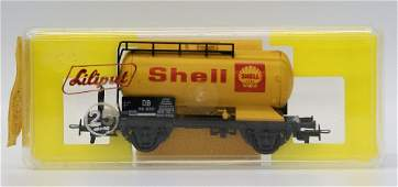 LILIPUT Train HO #250 S SHELL Oil Tanker Tank Freight