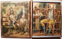 Victorian Puzzle Wooden Block Lithographed Boxed Set,