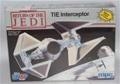 Vintage 1990 MPC STAR WARS ROTJ TIE Interceptor Scale