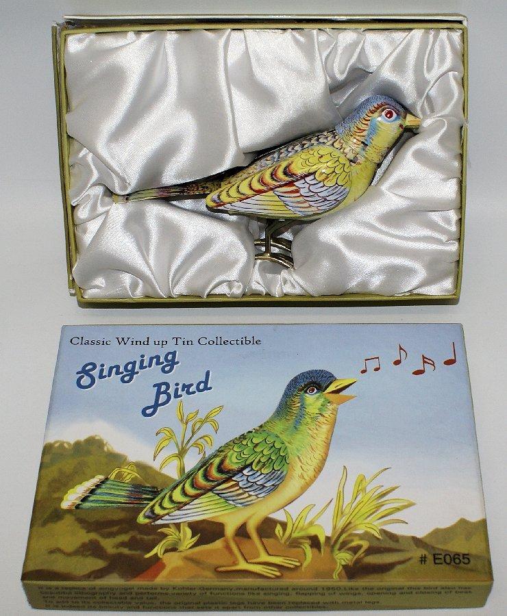 Tin Treasures Classic Wind-up Tin SINGING BIRD in the