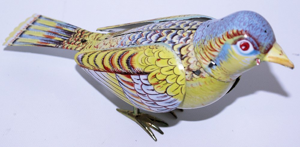 Tin Treasures Classic Wind-up Tin SINGING BIRD in the - 3